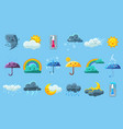 weather forecast big set meteorology symbols vector image