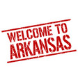 welcome to arkansas stamp vector image vector image
