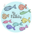 with big set of funny fishes and my vector image