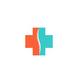 Abstract spine logo medical orthopedic spinal icon vector image