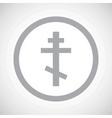 Grey orthodox cross sign icon vector image