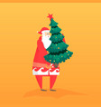 new year flat with santa gift vector image