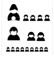 People silhouettes shaps vector image