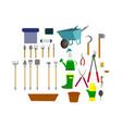 a set of garden items vector image