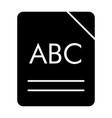 abc book solid icon alphabet vector image