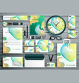 abstract business stationery template design for vector image vector image