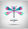 abstract geometrical style insect logo vector image