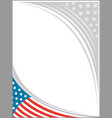 american flag frame template design vector image