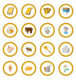 apiary cartoon icon circle vector image vector image