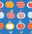 apples seamless repeating pattern cute vector image