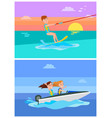 aqua sport summer collection vector image vector image