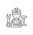 assembly work line icon concept assembly work vector image vector image