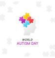 autism concept with child head vector image