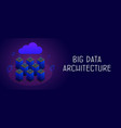 big data architecture safety and security concept vector image vector image