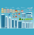 big set of city and suburban constructor vector image vector image