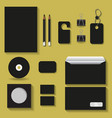 black mock upstemplates for business vector image vector image
