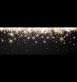 black shining banner with snowflakes vector image vector image