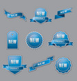 blue advertising banners vector image vector image