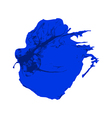 Blue Ink brush paint stroke with rough edges vector image vector image
