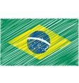 Brazilian Flag vector image vector image