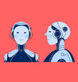 chatbot robot trendy detailed isolated vector image