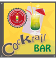 Cocktail bar vector image
