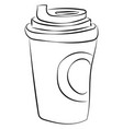 Coffee drawing on white background