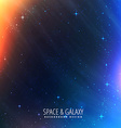 cosmos lights universe background vector image vector image