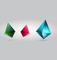 crystal set pink green blue vector image vector image