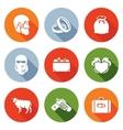 Custom wedding - bride price Icons Set vector image vector image