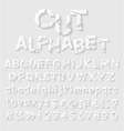 Decorative cut paper alphabet vector image vector image
