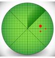 easy to edit radar screen template - radar with vector image vector image