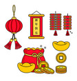 elements for chinese new years design vector image vector image