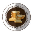 emblem color various types of bread icon vector image