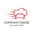 fast chef hat chef logo vector image vector image