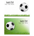 football backgrounds vector image vector image