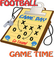 Football Game Time vector image vector image