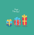 funny gifts for new year graphics vector image vector image