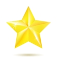 Gold star isolated on white background vector image