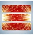 Happy New Year Banners Red background with golden vector image