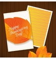 happy thanksgiving greeting card vector image vector image