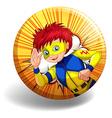 Hero badge vector image