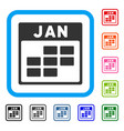january calendar grid framed icon vector image vector image