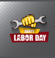 labor day usa label or background vector image
