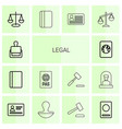 legal icons vector image vector image