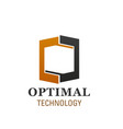 logo for optimal technology company vector image vector image