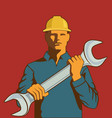 man with spanner vector image vector image