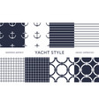nautical seamless patterns yacht style design vector image