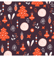 new year seamless pattern vector image