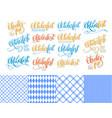 oktoberfest stickers hand lettering brush pen vector image vector image
